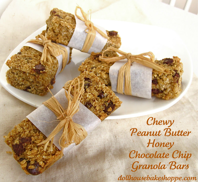 Peanut Butter Honey Chocolate Chip Granola Bars (no-bake, dairy-free ...