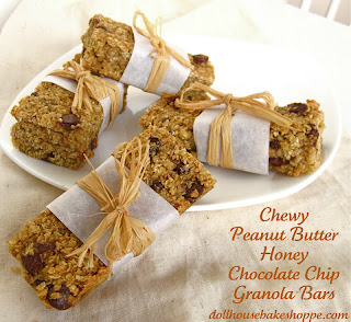 Chewy Peanut Butter Honey Chocolate Chip Granola Bars (no-bake, dairy ...