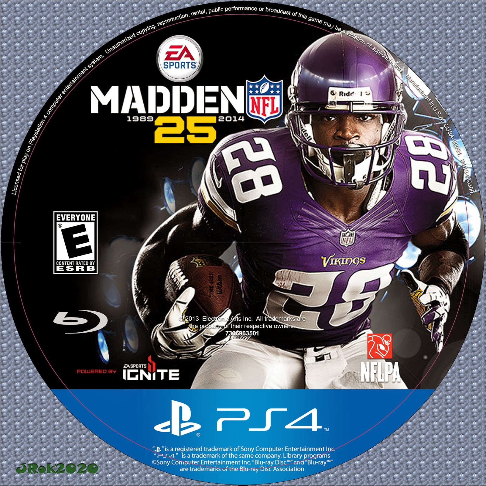 Label Madden NFL 25 PS4