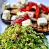 Grüner Couscous mit gegrilltem Gemüse und Feta