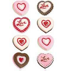 Heart Design Lollipop Chocolate