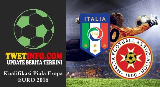 Prediksi Italy vs Malta, Piala Eropa 04-09-2015