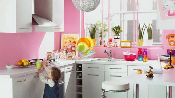 b b fashion house colorful kitchen