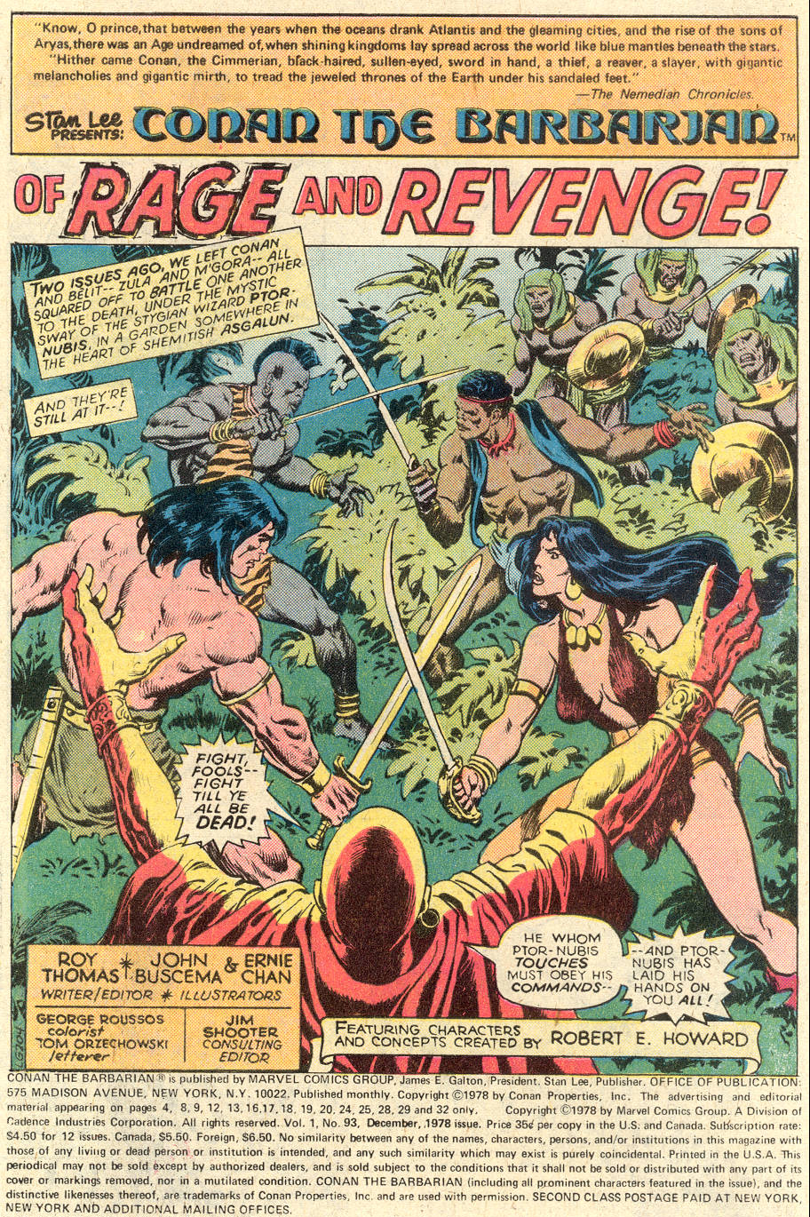 Conan the Barbarian (1970) Issue #93 #105 - English 2