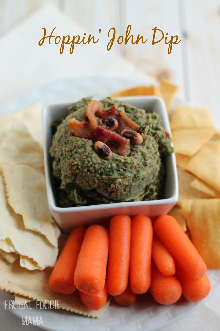 Hoppin' John Dip- a traditional Southern New Year's Eve meal turned into a party perfect appetizer!
