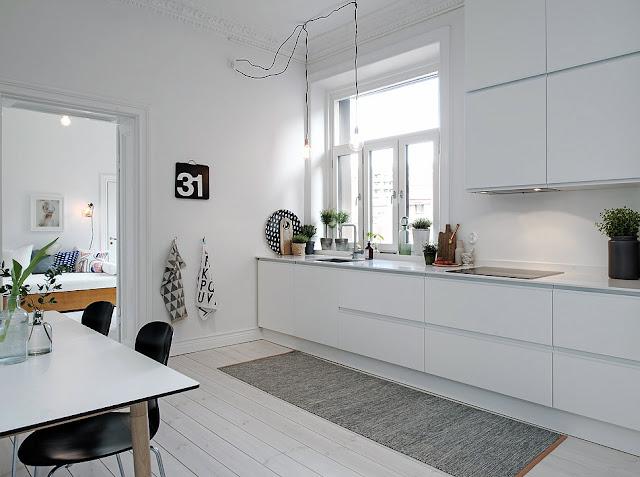 Muebles blancos de cocina