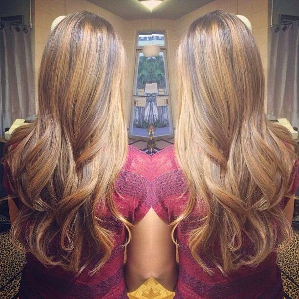 perfect caramel highlights carmel peek a boo highlights with dark ...