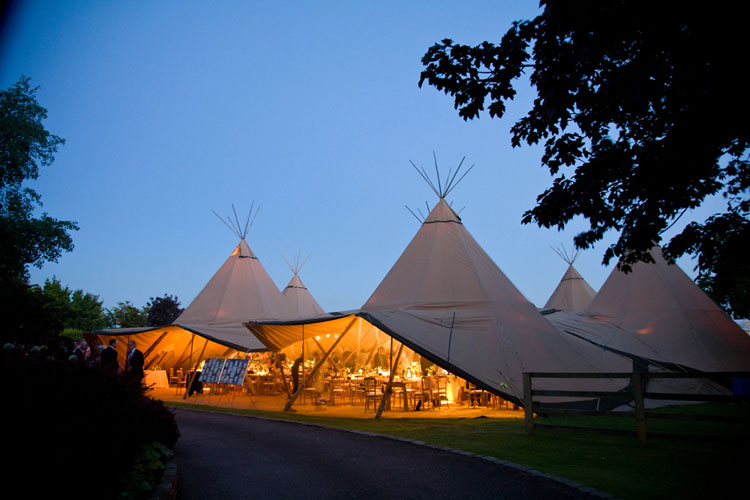 Chasing Rainbows Kissing Frogs Tipi Marquee Wedding