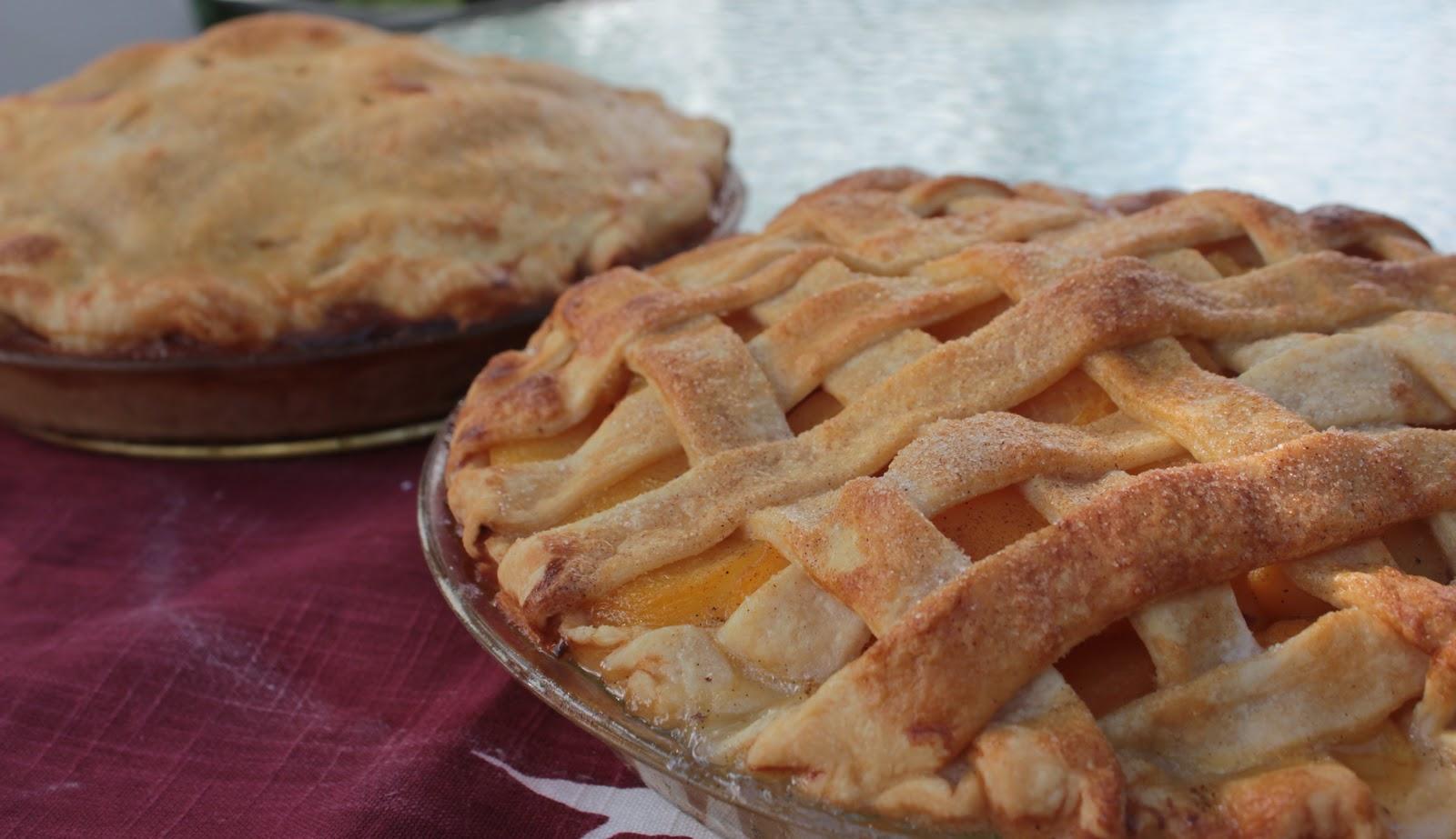 Vanilla and Cardamom Peach Pie