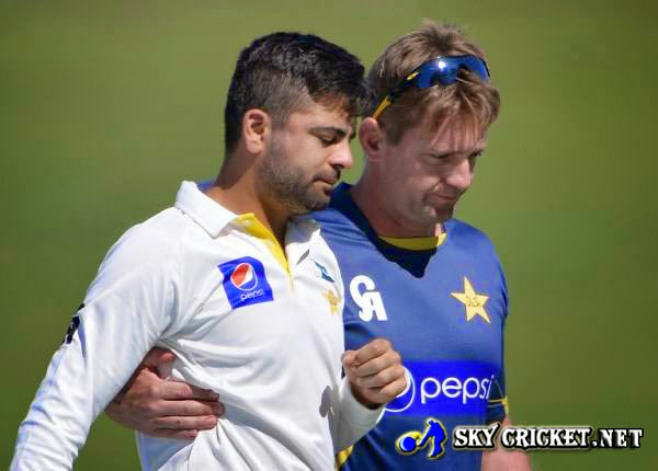 Ahmed Shehzad suffering cheek bone fracture
