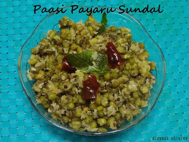 Pacha Payaru Paasi Paruppu Sundal