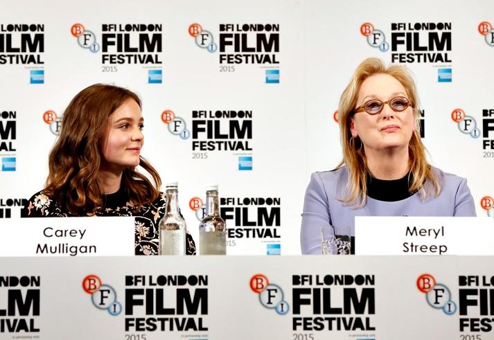 Carey Mulligan y Meryl Streep en el Festival de Londres