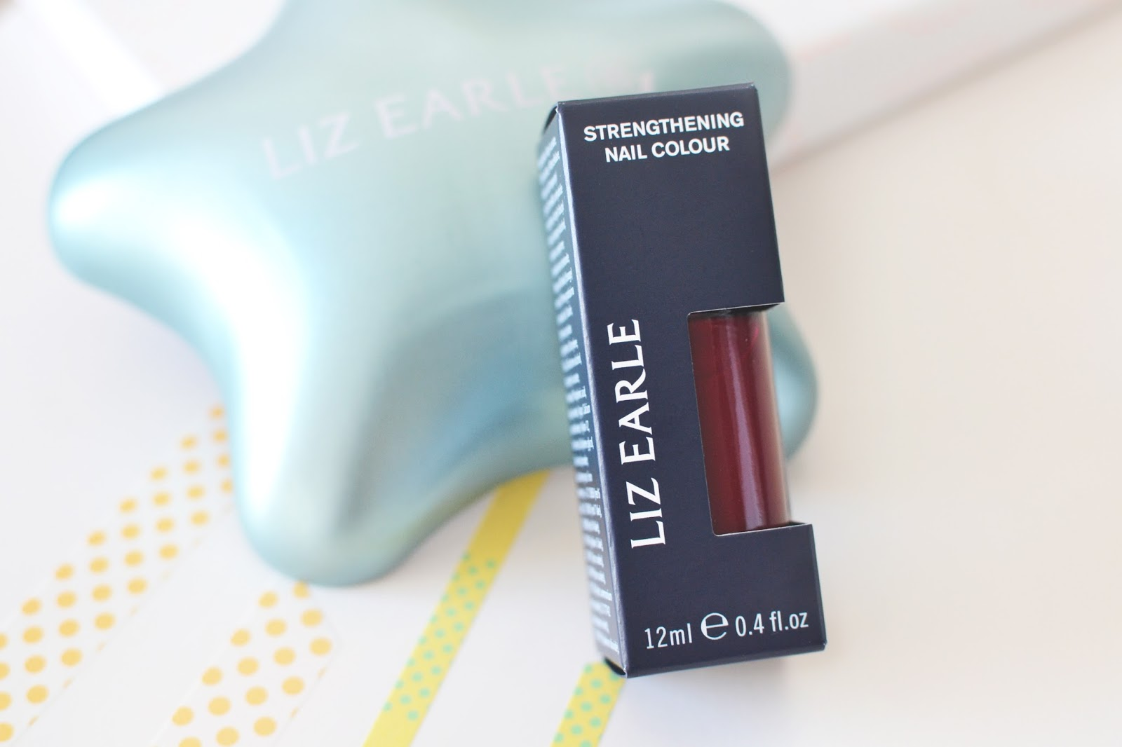 liz earle pure poetry nail polish, red nail polish, liz earle nail colour
