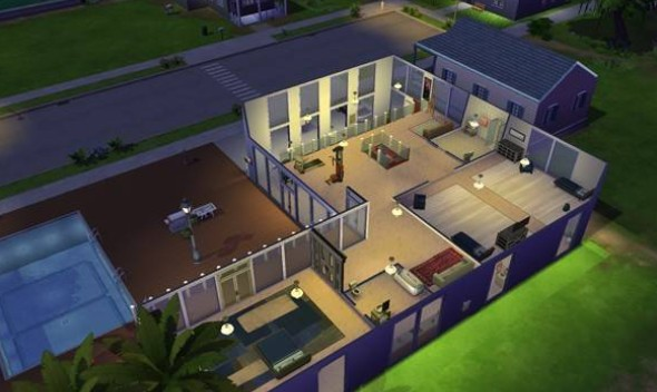 Casa moderna donwload casa the sims 4 somos sims for Casas modernas the sims 4