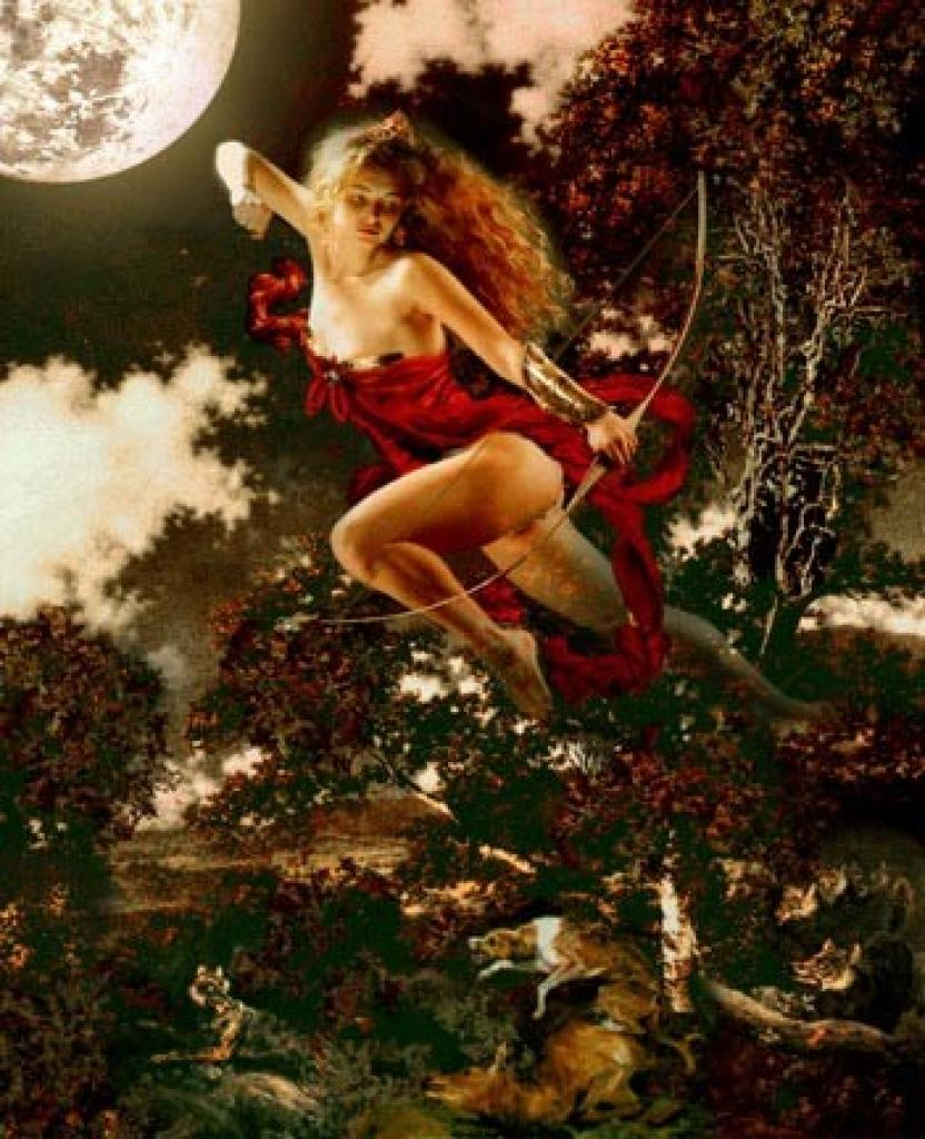 Identified with the Goddess Artemis, Diana is the  Roman Goddess of the woodlands, wild animals and of the hunt.