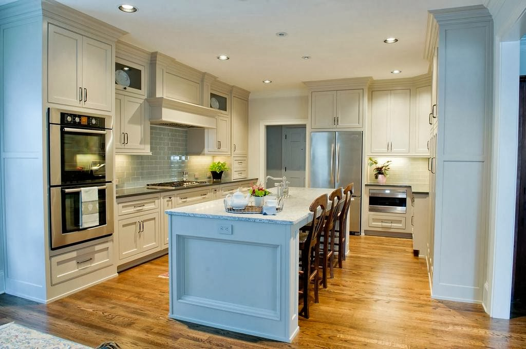 The Cabinetry Is Bell Custom Cabinetry By Bell Kitchen U0026 Bath Studios. The  Cabinetry Construction Is Beaded Inset And The Finish Is Benjamin Mooreu0027s  Smokey ...