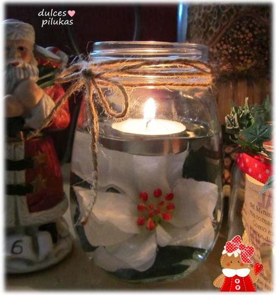 decorar con velas reciclar botes de cristal