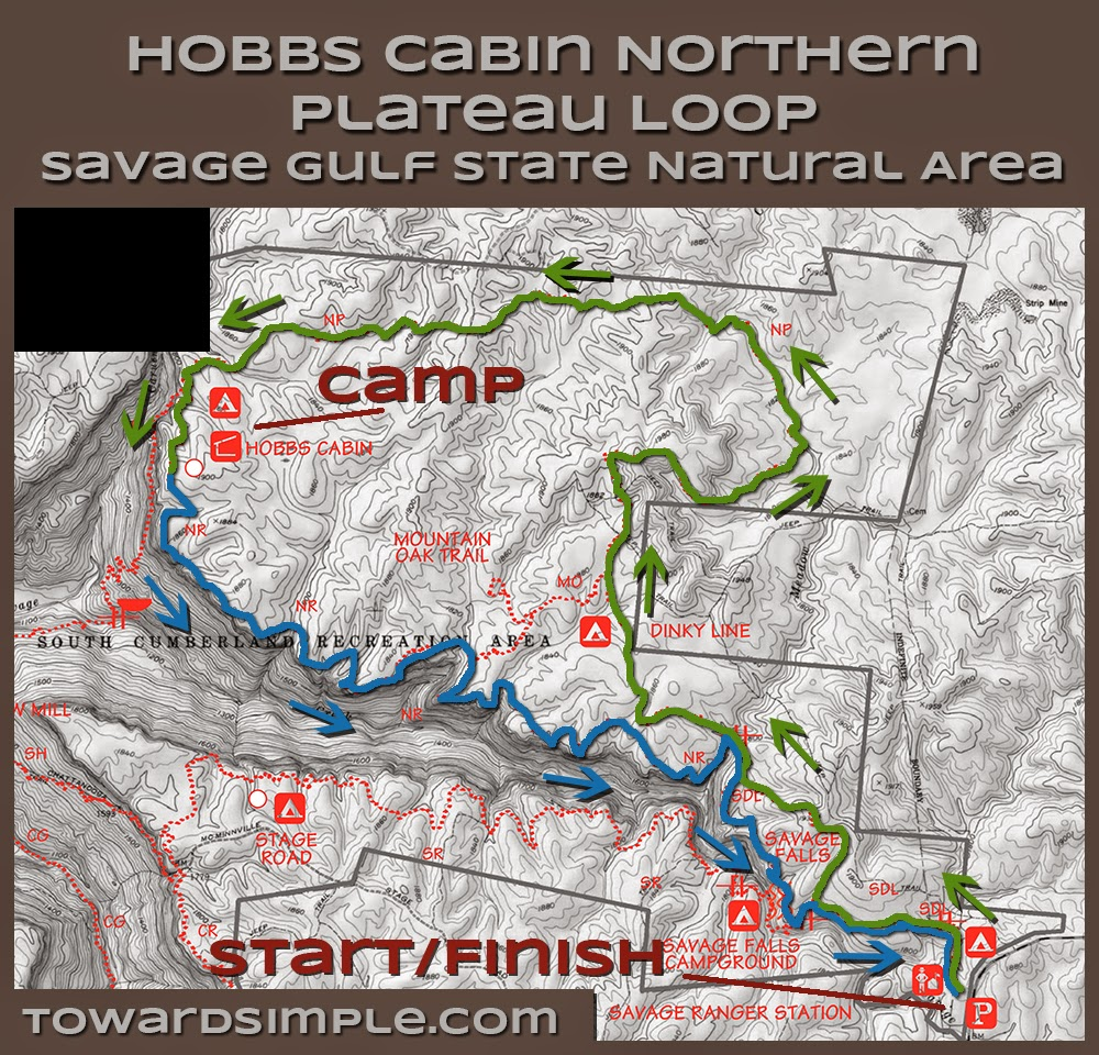 toward simple Trail Review Hobbs Cabin Loop Savage Gulf TN