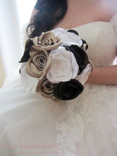 Rose bouquet bridal fabric