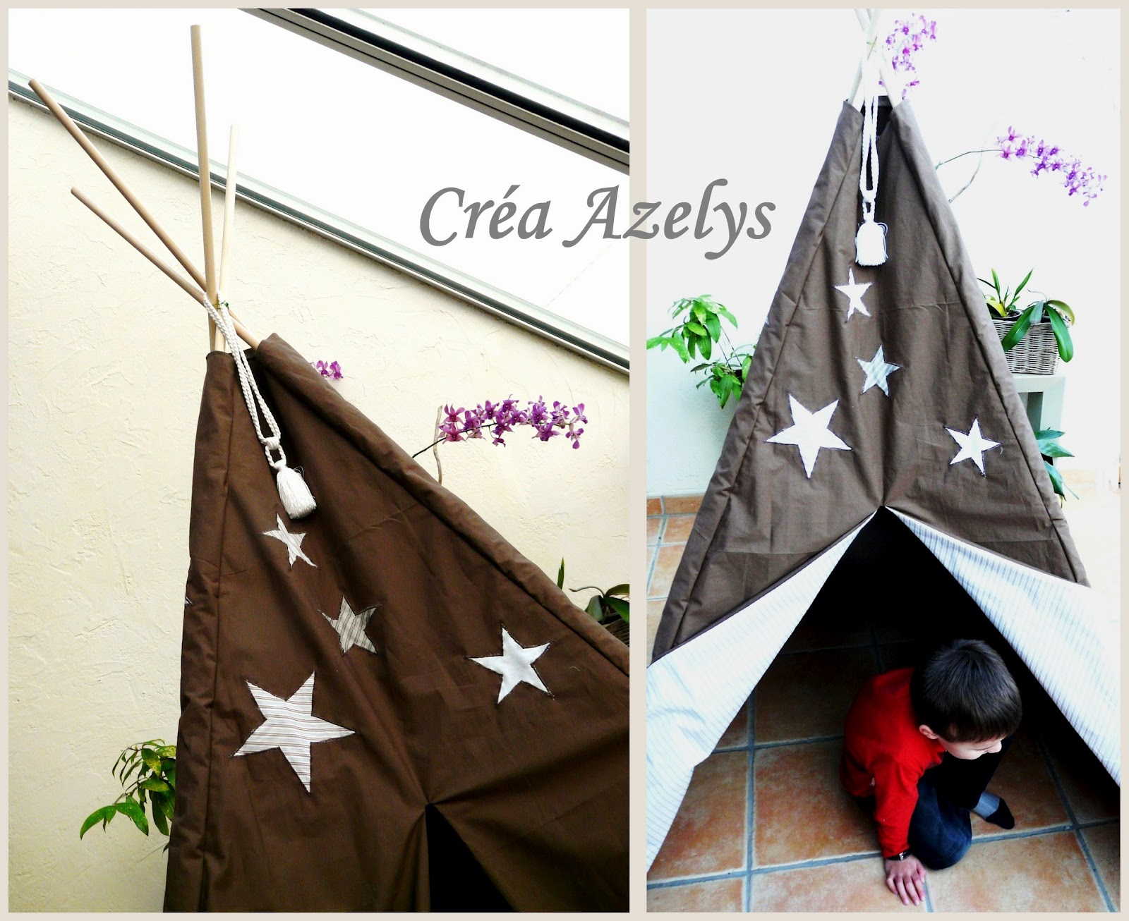 le petit monde d 39 azelys tipi enfant diy. Black Bedroom Furniture Sets. Home Design Ideas