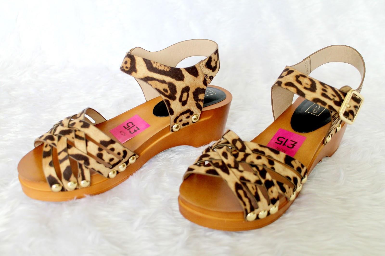 Topshop Leopard Print Sandals