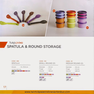 SPATULA & ROUND STORAGE - KATALOG TWIN TULIPWARE 2013-2014