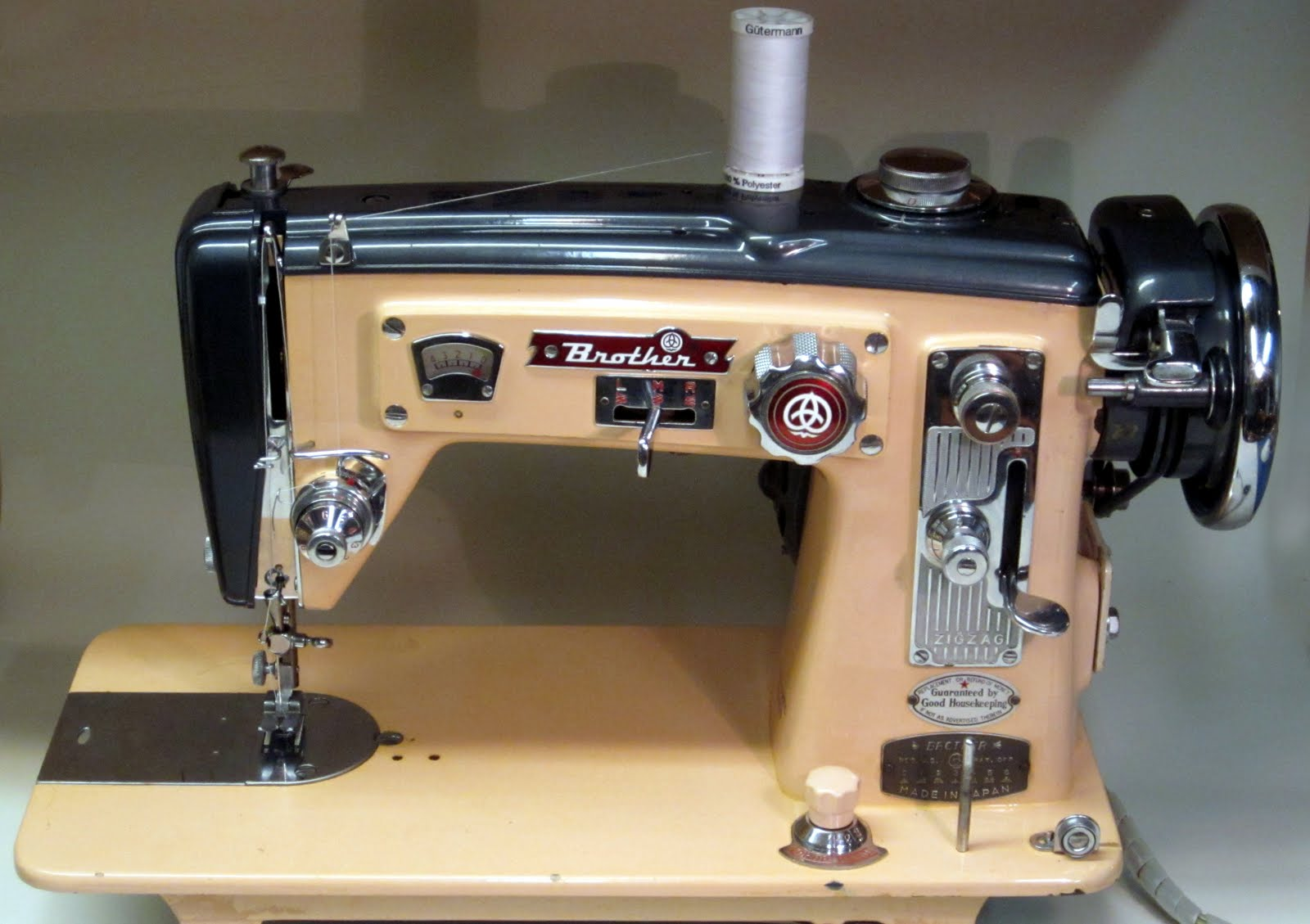 mi vintage sewing machines brother select o matic 1957 rh mivintagesewingmachines blogspot com Brother Sewing Machine User Manual Brother Sewing Machine LS2250PRW Manual