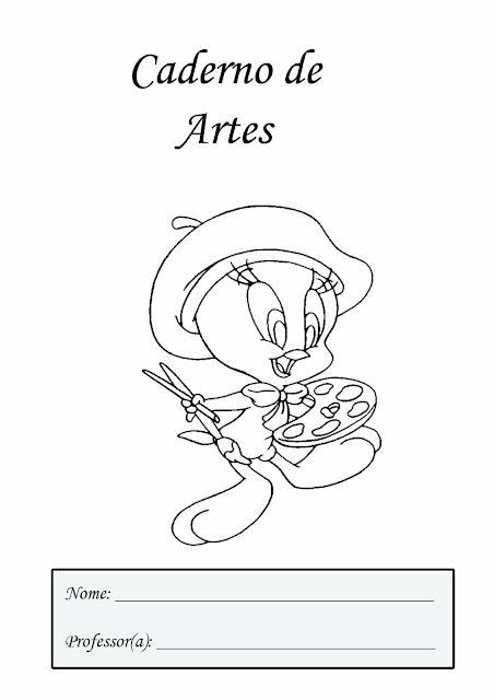 Caderno de artes