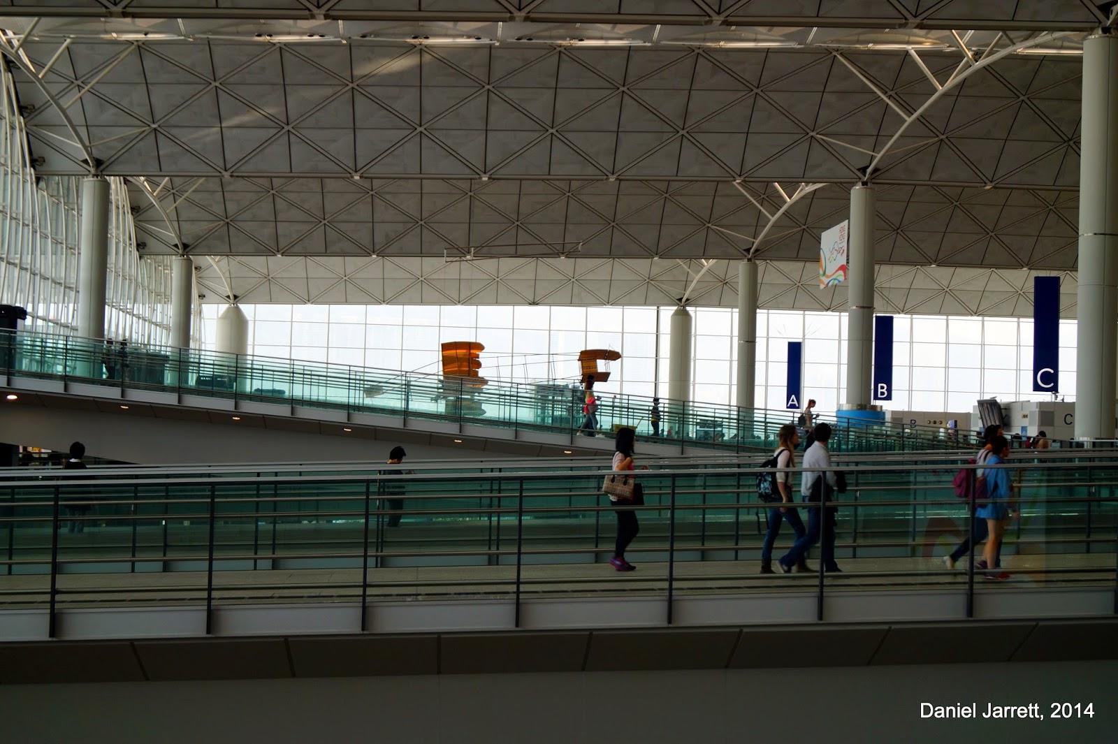 Hong Kong Airport Inside Chek Lap Kok
