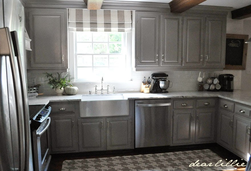 Dear Lillie Darker Gray Cabinets And Our Marble Review - Gray cabinets with marble countertops