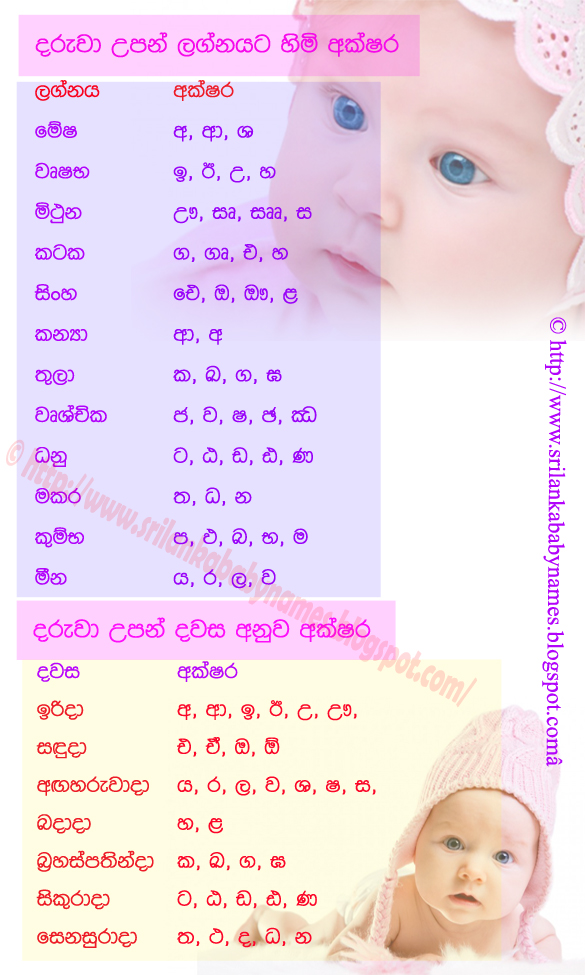 sinhala baby boy names with meaning pdf