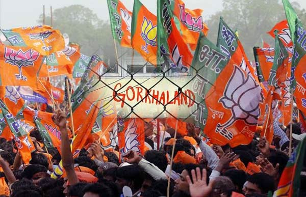 BJP flag on Gorkhaland issue