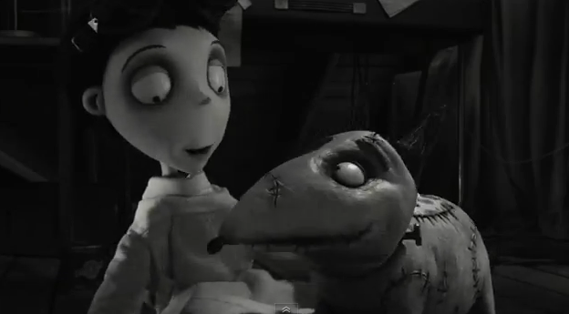 Frankenweenie 2012 movie trailer impressions 3-D stop motion animated film trailer review cmaquest