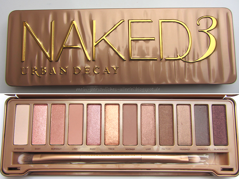 mein pers nliches allerlei urban decay naked 3 palette swatches. Black Bedroom Furniture Sets. Home Design Ideas