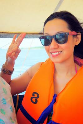 Trisha Sebastian in Honda Bay Puerto Princesa Palawan tour