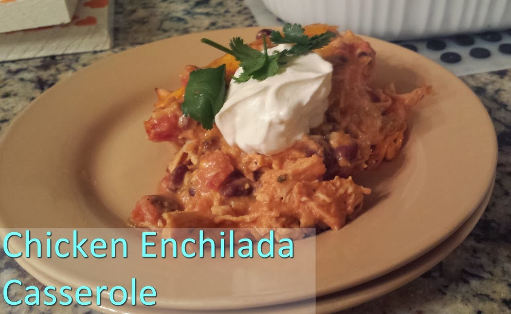 Chicken Enchilada Casserole - Mikki Makes Stuff