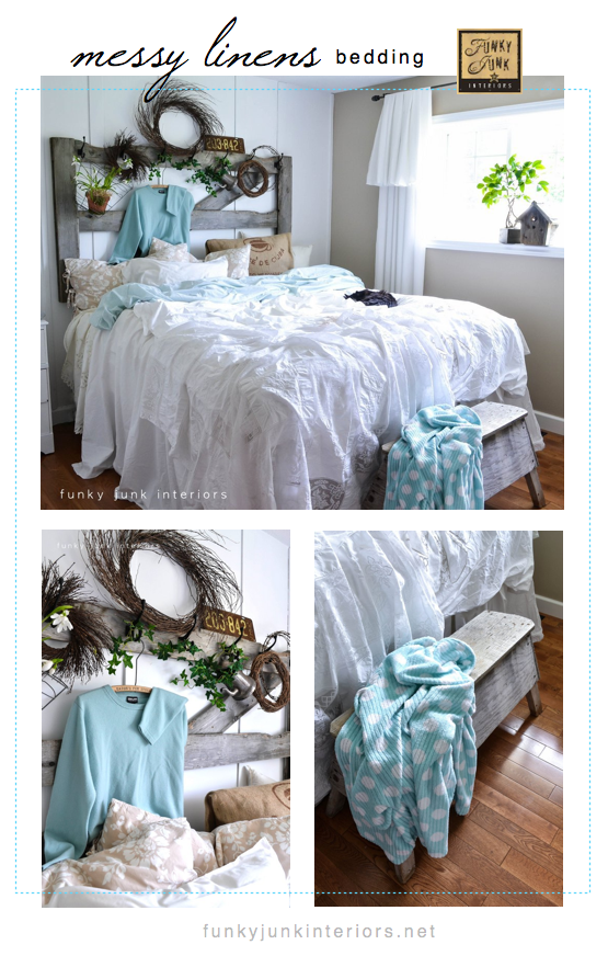 #10 - Decorate a bedroom with messy linens - via Funky Junk Interiors (click here for the rest of the top 2012 lineup)