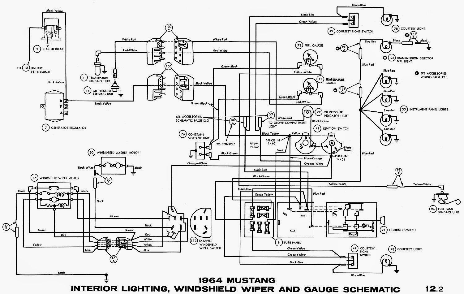 1964 Mustang Wiring Diagrams Schematic on windshield wiper motor wiring harness