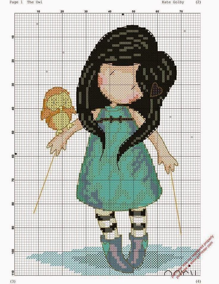 Схемы вышивки крестиком девочек
