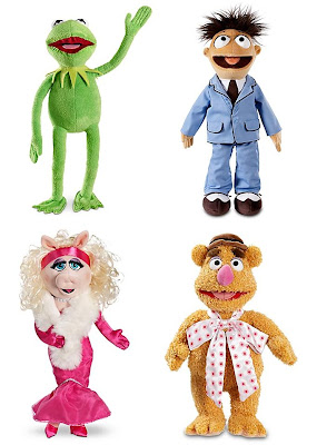 Disney Store Exclusive The Muppets Plush Collection - Kermit the Frog, Walter, Miss Piggy & Fozzie Bear