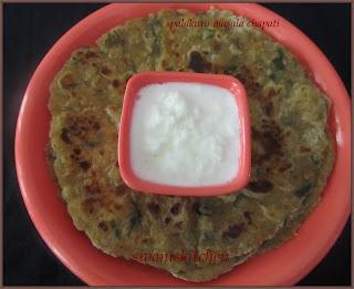 Palakura masala chapati