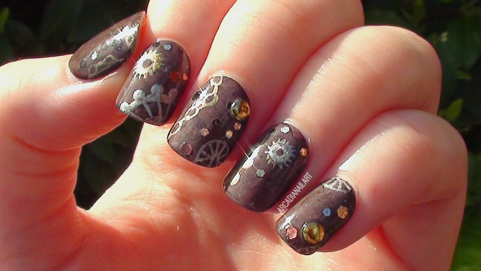 Vintage Steampunk Nails