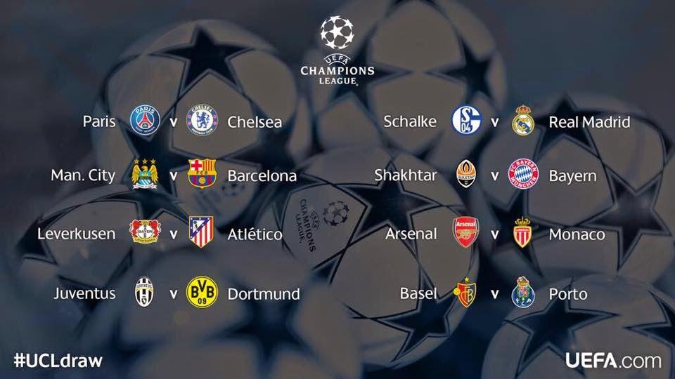 Definidos Octavos de Final Champions 2014 - 2015