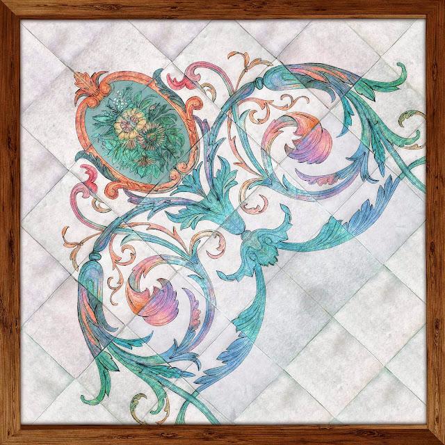 pavimento ceramico, Manises, dibujo,