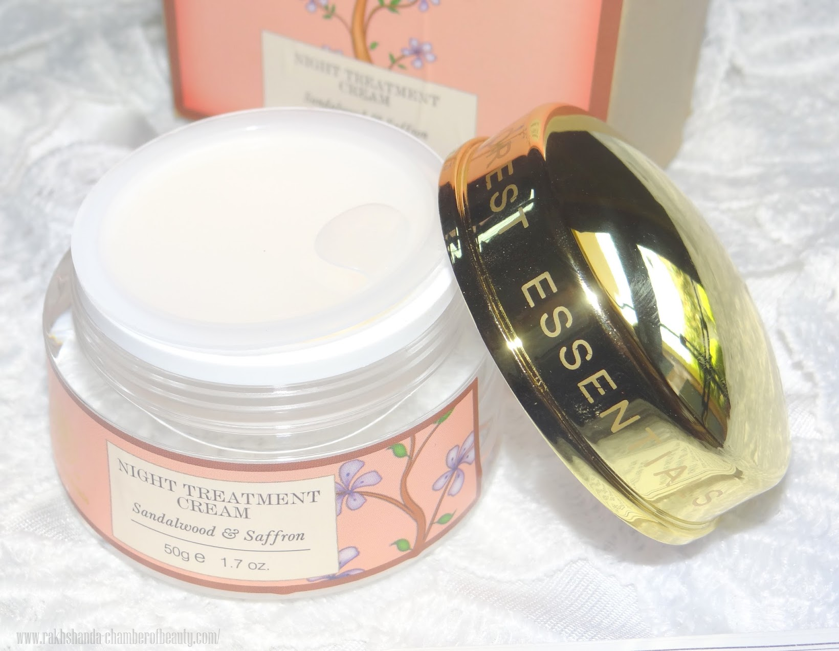 Forest Essentials Night Treatment Cream Sandalwood and Saffron- Review and Price, Indian Beauty Blogger, Chamber of Beauty