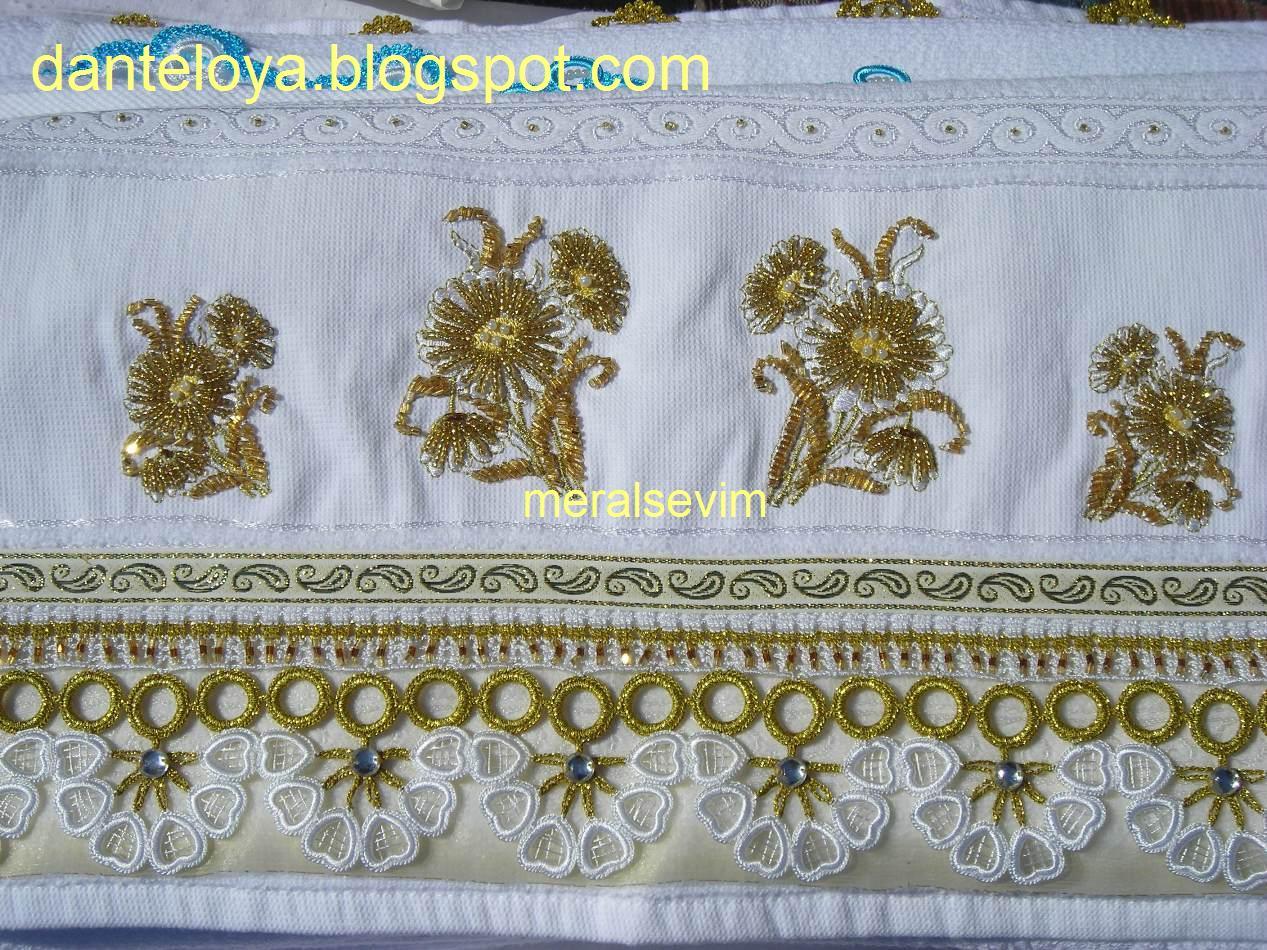 Yeni havlu kenarı örnekleri ne yan kısımdaki havlu kenarı