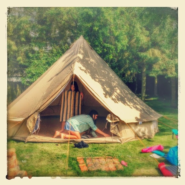Our amazing bell tent