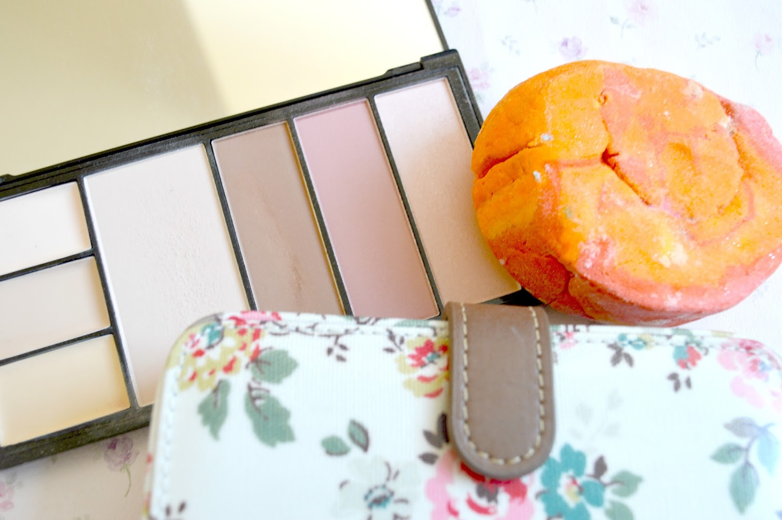 March 2015 Favourites | Makeup Revolution Protection Palette in Light, LUSH Brightside Bubble Bar and Cath Kidston Kingswood Rose Folded Zip Wallet