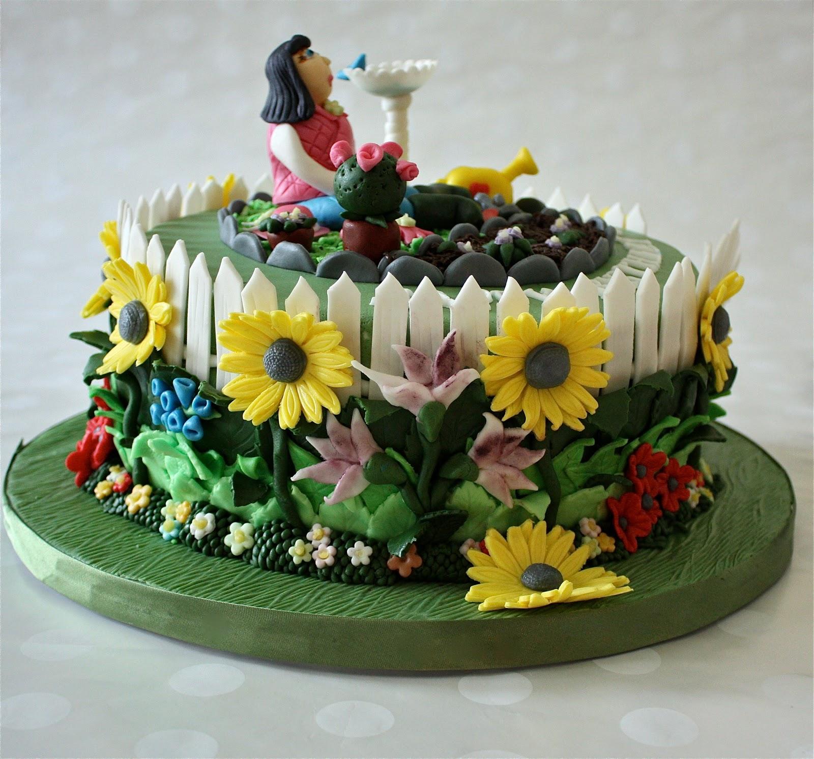 gardening cake - Garden Design Birthday Cake