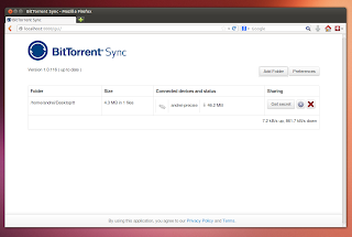 BitTorrent Sync Web Interface Linux